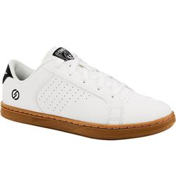 Zapatillas de skate júnior CRUSH 100 blanco y goma
