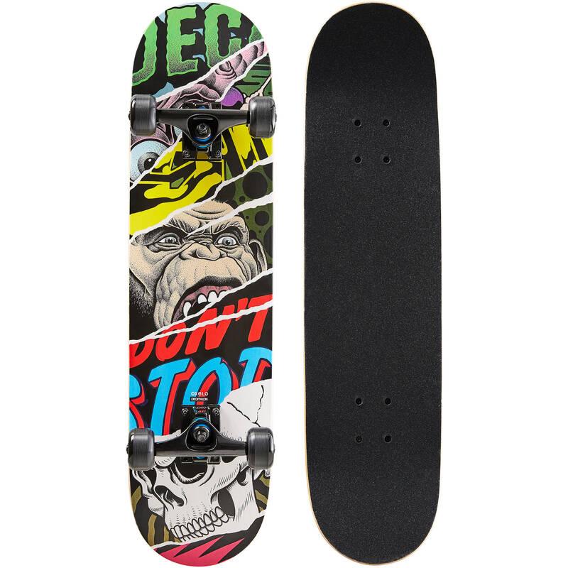 SKATEBOARDY Skateboarding, longboarding, waveboarding - SKATEBOARD MID500 MONKEY OXELO - Vybavení na skateboard