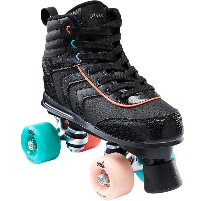 FITNESS QUADS Outdoor Activities - 100 JR Quad Skates - Black OXELO - Kids