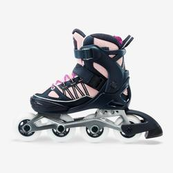 Roller fitness enfant FIT 5 Jr bleu corail