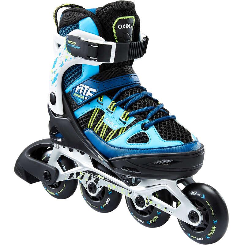 INLINES JUNIOR Inlines, Skateboard - Inlines FIT5 JR blå vit OXELO - SPORTER