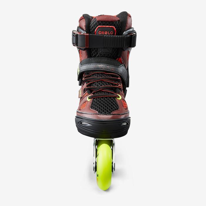 Roller fitness enfant FIT 5 Jr rouge noir
