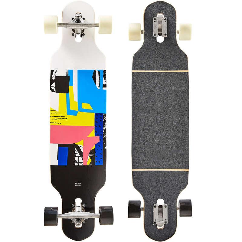 LONGBOARD AND CRUISER - Drop140 Longboard - White OXELO