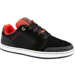 Zapatillas de caña baja de skateboard junior CRUSH500 negro y rojo