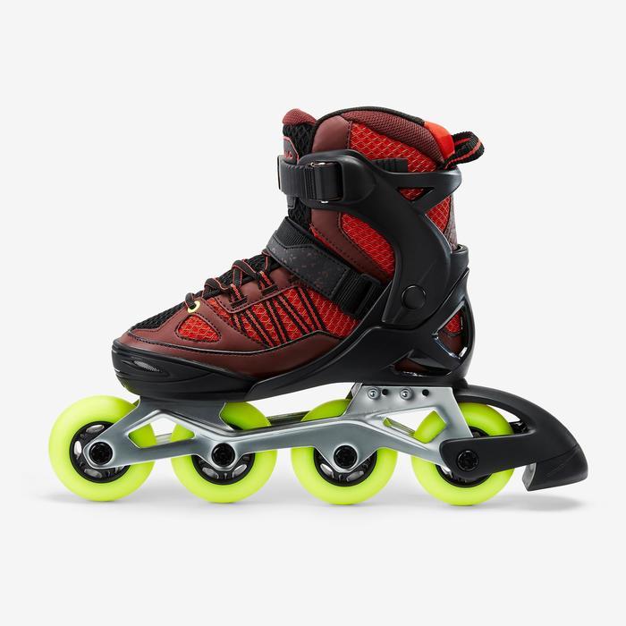 Inline Skates Inliner FIT 500 Kinder schwarz/rot