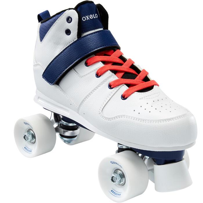 Roller Quad 100 Adulte Blanc