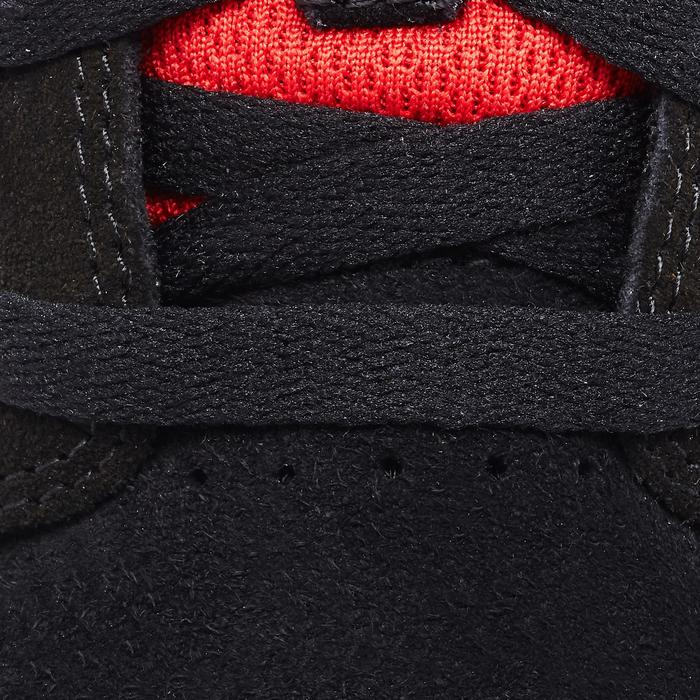 Chaussures basses de skateboard junior CRUSH500 noire et rouge