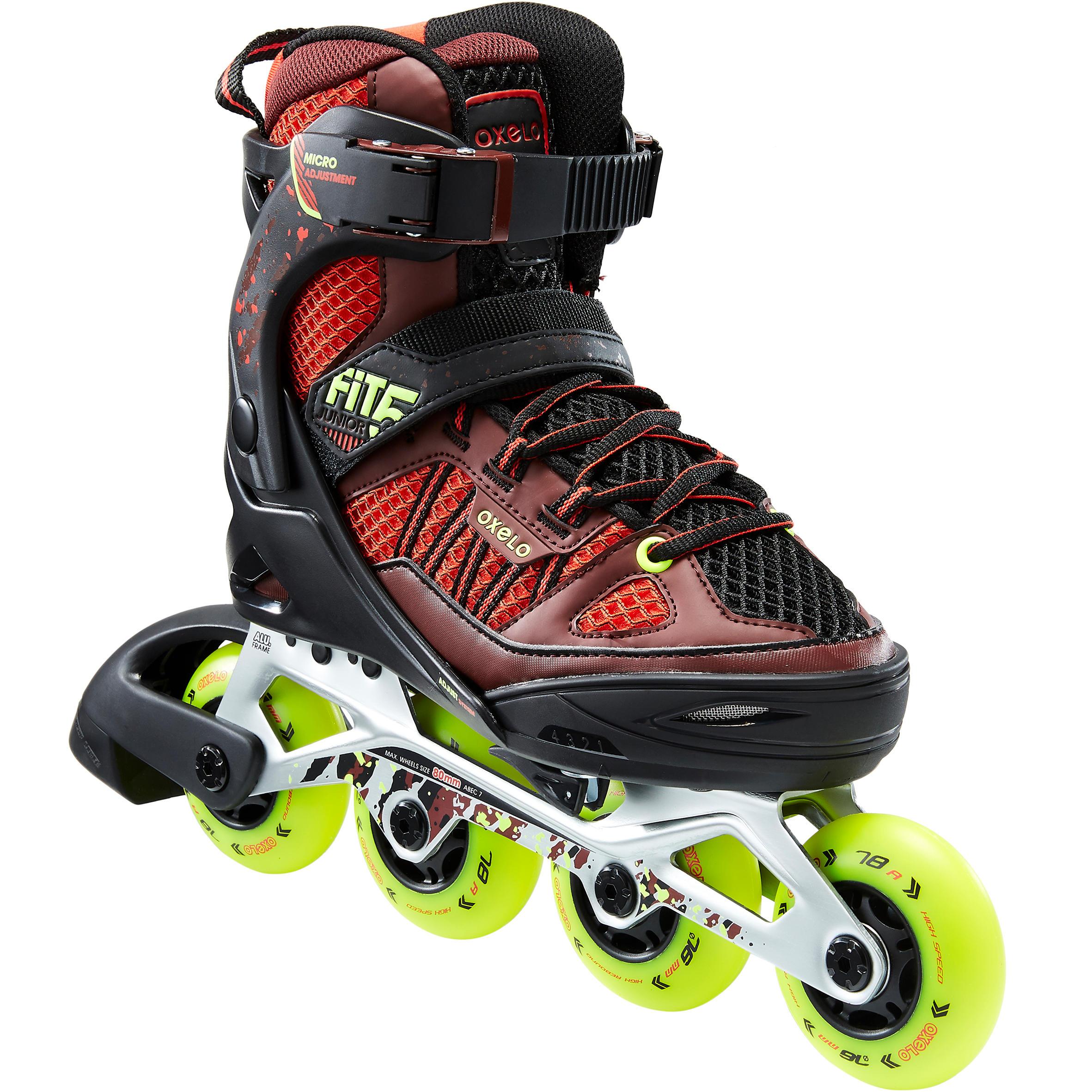 Größe 34-36 mit Schützer Decatlon Inline-Skates OXELO