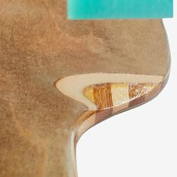 水滴形竹製板身彈性長板