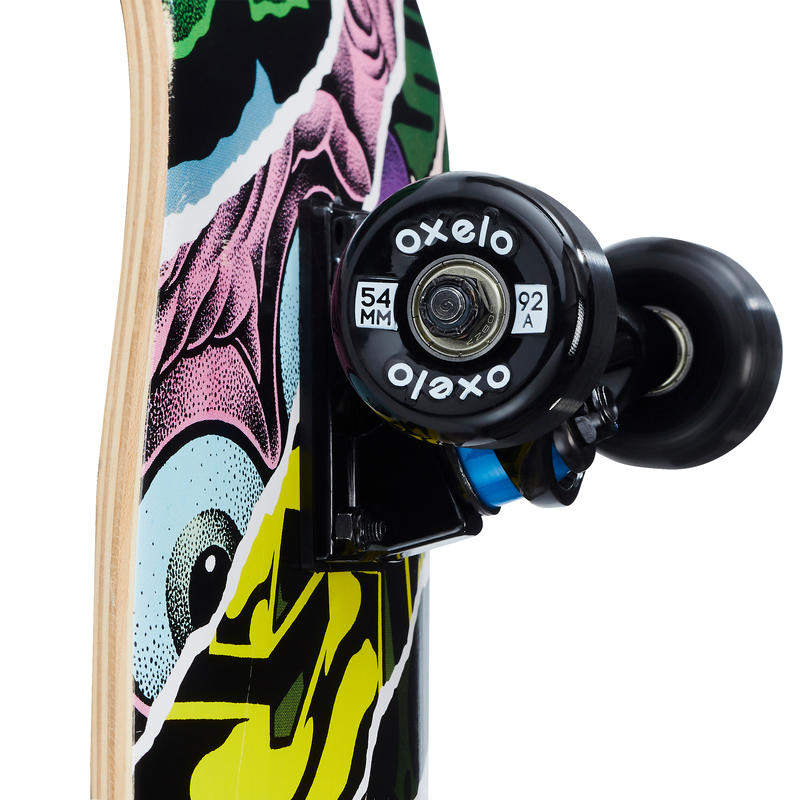 Kids' 8-12 Years Skateboard Mid 500 Monkey
