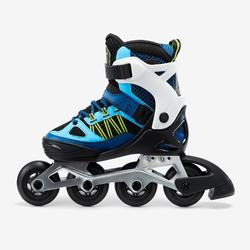 Roller fitness enfant FIT 5 Jr bleu blanc