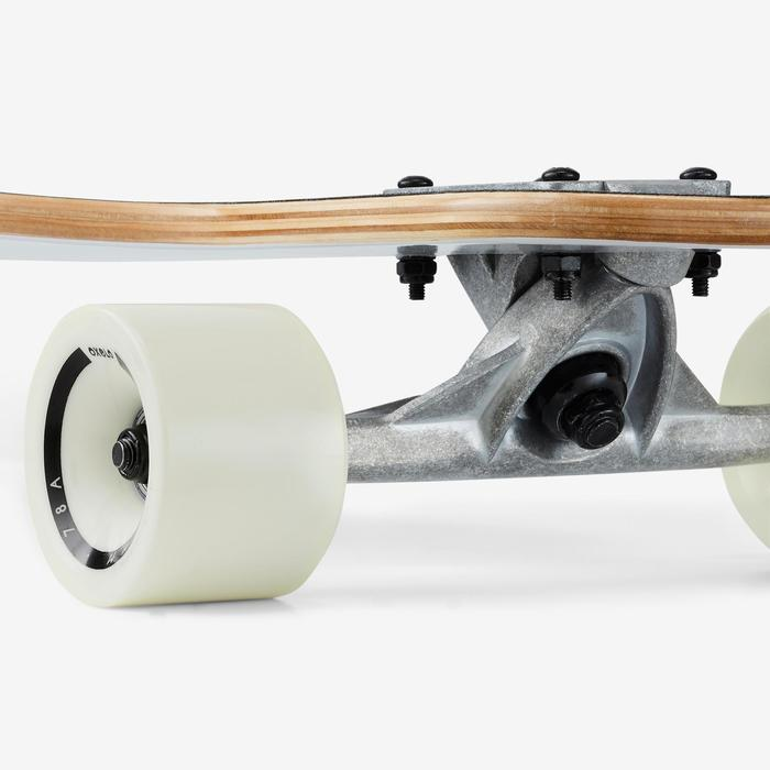 Tabla Longboard OXELO DROP140 Adulto Blanco Estampado