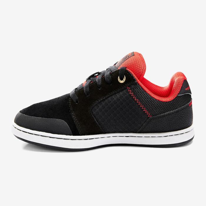 Lage skateboardschoenen voor kinderen Crush 500 zwart en rood