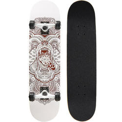Kids' 8-12 Years Skateboard Mid 500 Bear