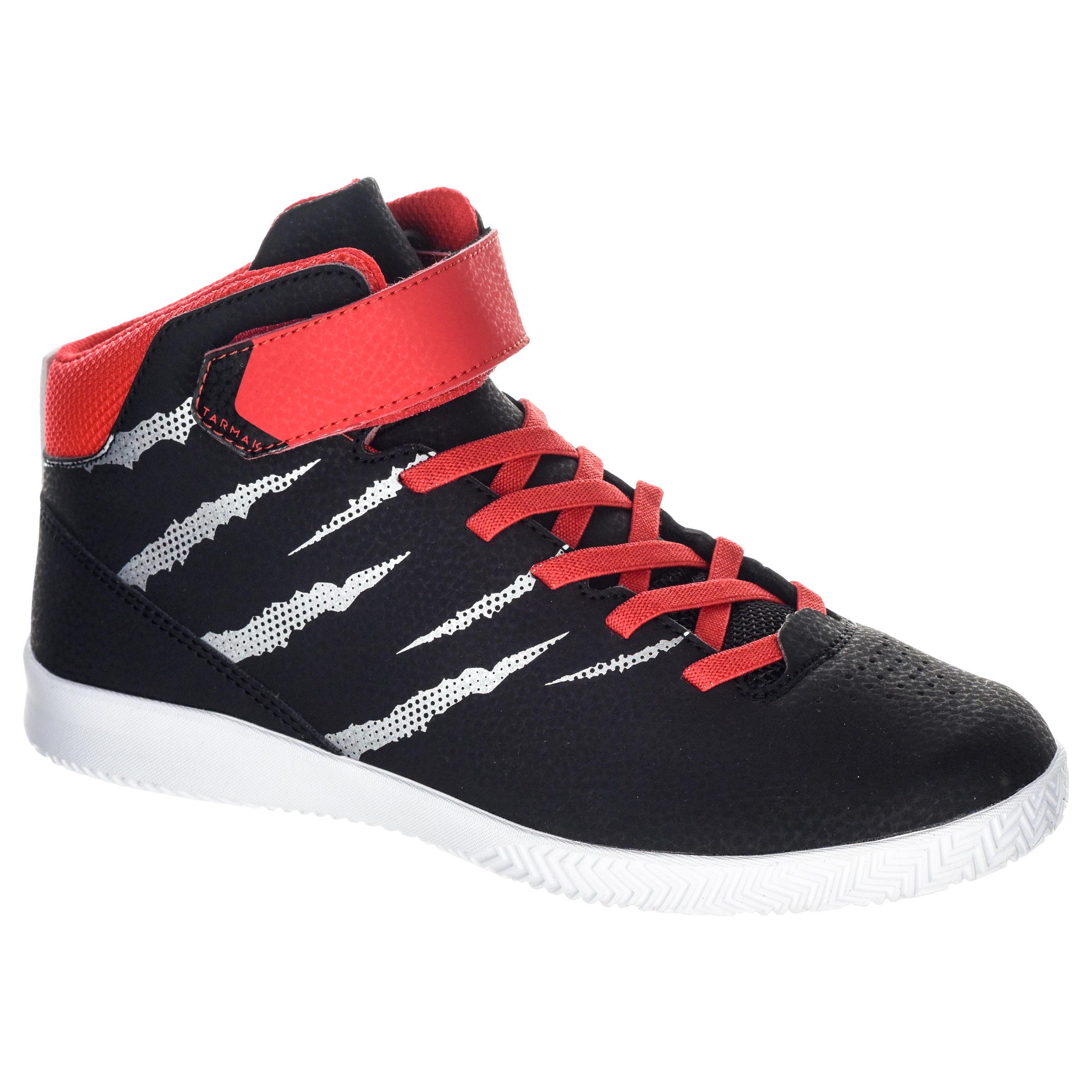 Tarmak Basketbalschoenen SE100 jongens/meisjes beginners zwart rood