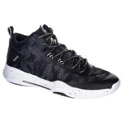 Basketbalschoenen SC500 mid zwart/wit(heren)
