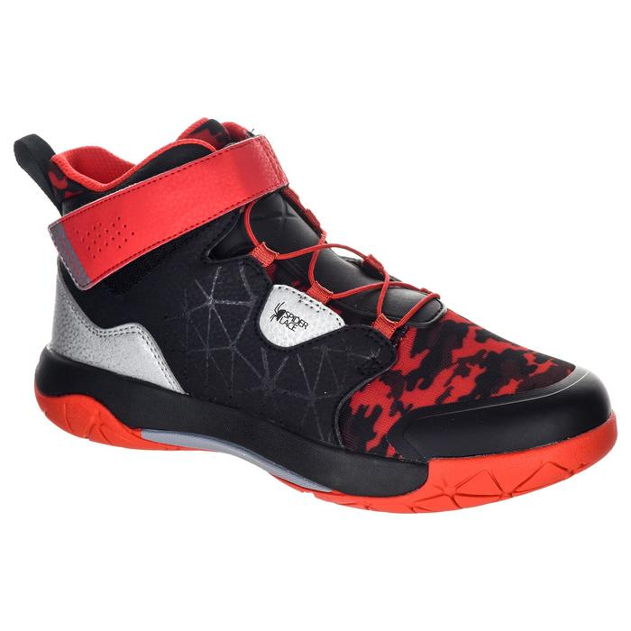 Basketballschuhe Spider Lace 500 Jungen/Mädchen Fortgeschrittene schwarz/rot