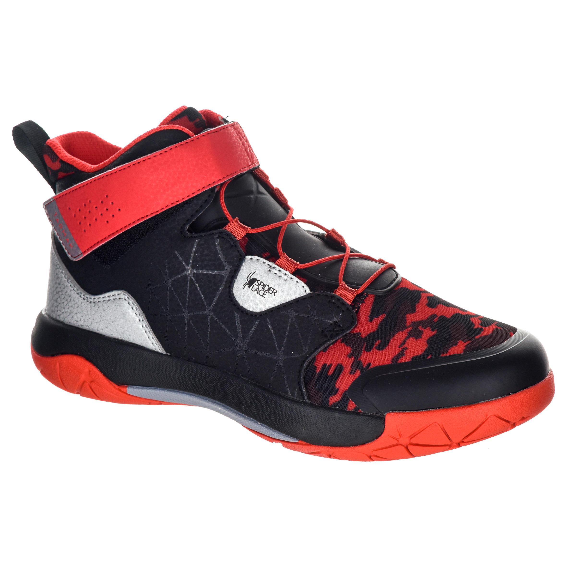 Tarmak Basketbalschoenen Spider Lace zwart/rood