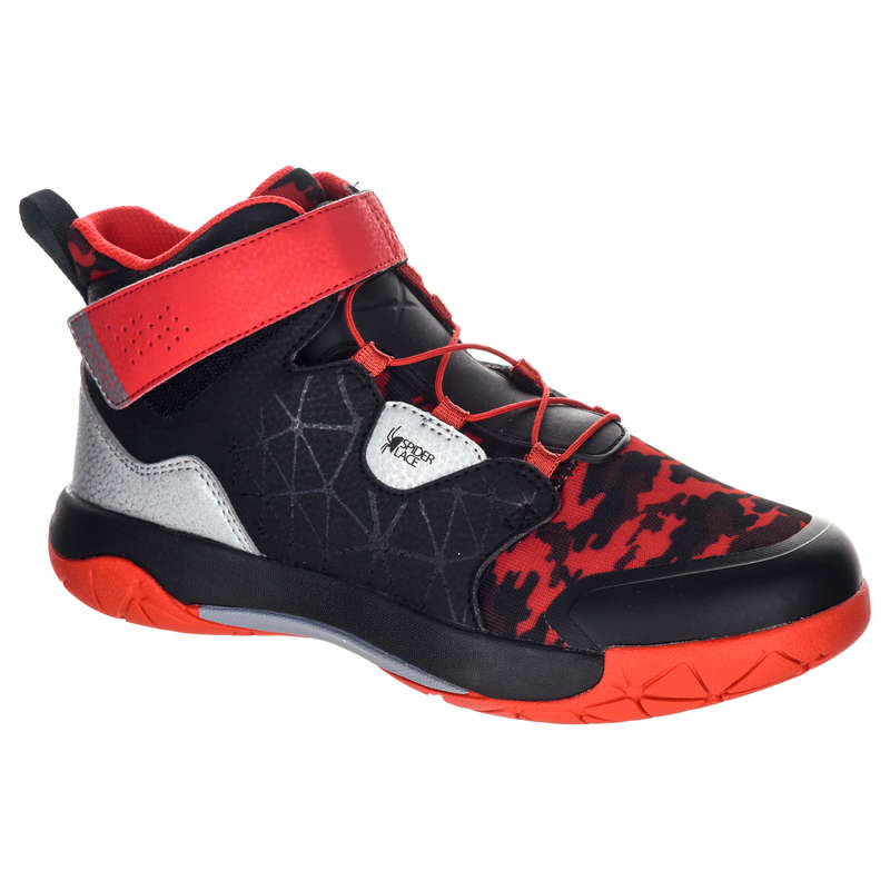 KIDS BASKETBALL FOOTWEAR Basketball - SP500 Shoes - Black/Red TARMAK - Basketball