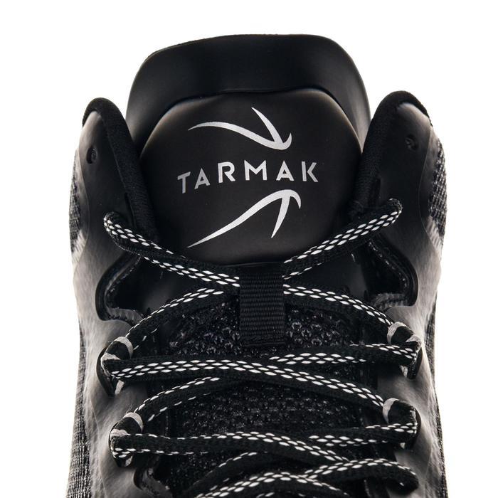 Basketbalschoenen volwassenen H/D halfgevorderden SC 500 mid zwart wit