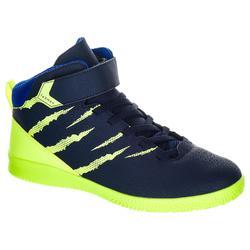 Easy 100 Boys' / Girls' Beginner Basketball Shoes - Blue/Yellow