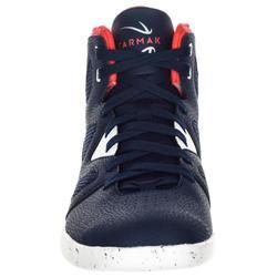 Basketbalschoenen volwassenen H/D beginners blauw wit rood