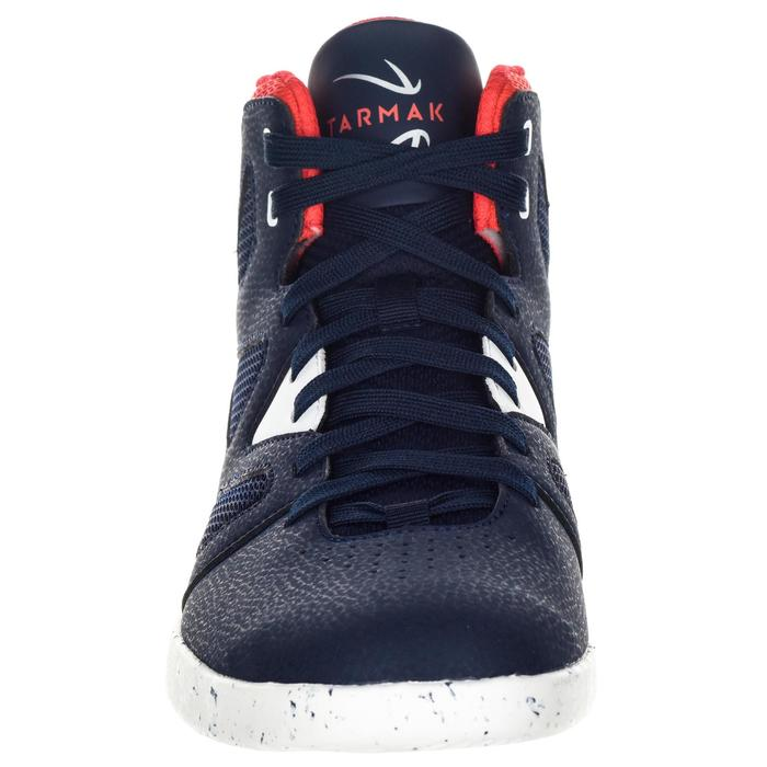 CHAUSSURE BASKETBALL POUR ADULTE H/F DEBUTANT bleu/blanc/rouge