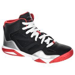 Basketbalschoenen Shield 300 jongens/meisjes halfgevorderden zwart wit rood
