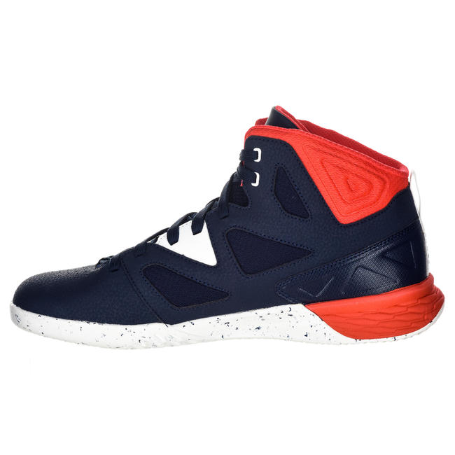 Beginner Basketball Shoes Shield 300 - Blue/White/Red