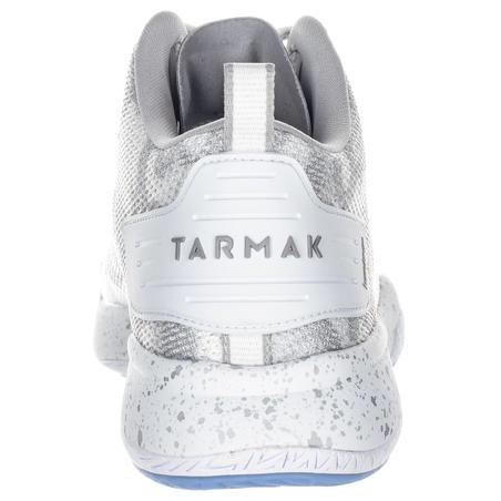 Chaussures de basketball SC500 mi-montantes blanches - Hommes
