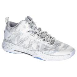 Basketbalschoenen volwassenen H/D halfgevorderden SC 500 mid wit