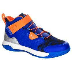 Basketbalschoenen Spider Lace blauw/oranje (kinderen)