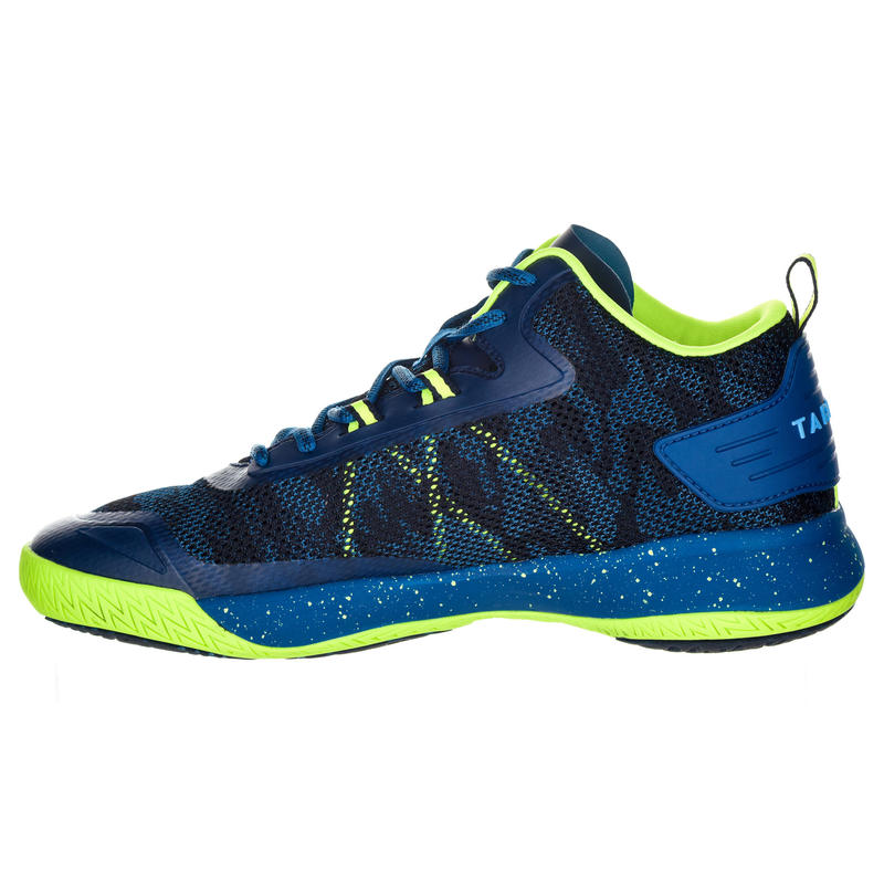 SC500 Adult Mid Basketball Shoes For Intermediate Players - Blue/Yellow