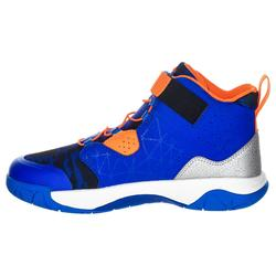 Spider Lace Boys'/Girls' Intermediate Basketball Shoes - Blue/Orange