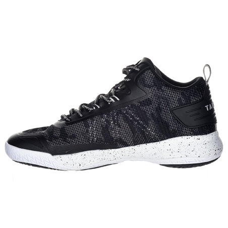 SC500 Adult Mid Basketball Shoes for Intermediate Players - Black/White