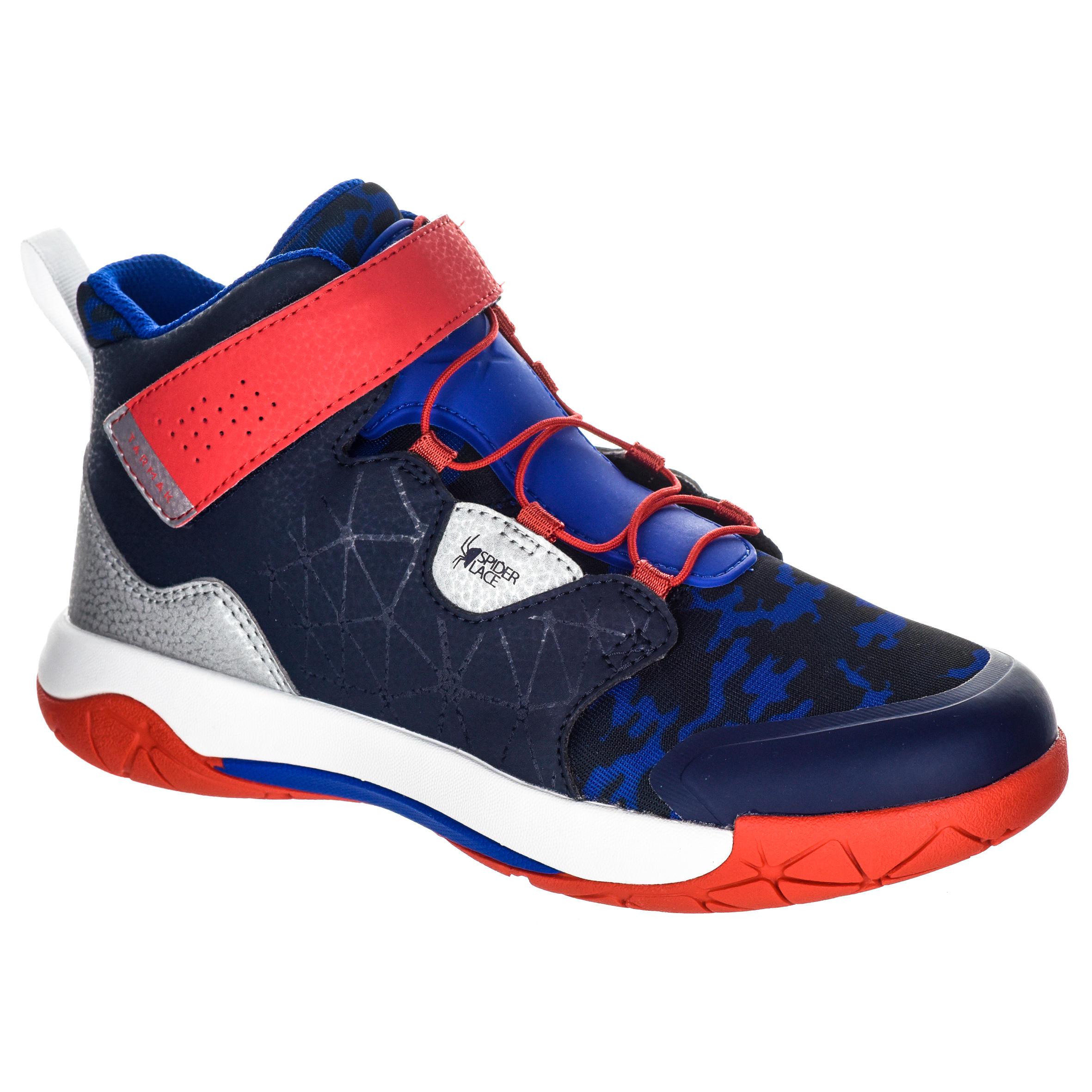 2588001 Tarmak Basketbalschoenen Spider Lace dames halfgevorderden blauw rood