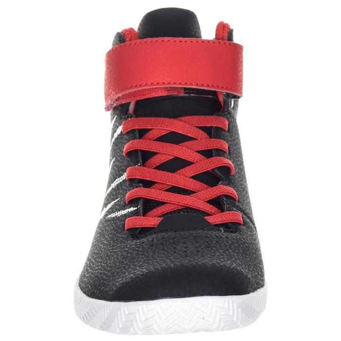 Basketballschuhe SE100 Jungen/Mädchen Einsteiger rot/schwarz