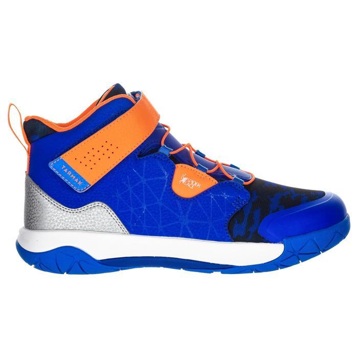 Basketballschuhe Spider Lace 500 Jungen/Mädchen Fortgeschrittene blau/orange