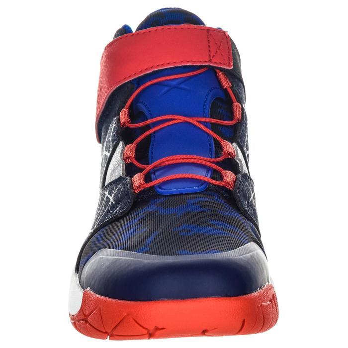 Zapatilla Baloncesto Tarmak Spider Lace 500 Niños Azul Rojo