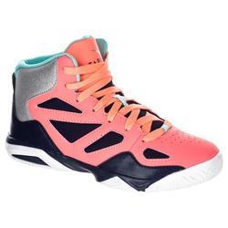 Basketbalschoenen Shield 300 voor gevorderde jongens/meisjes roze/blauw