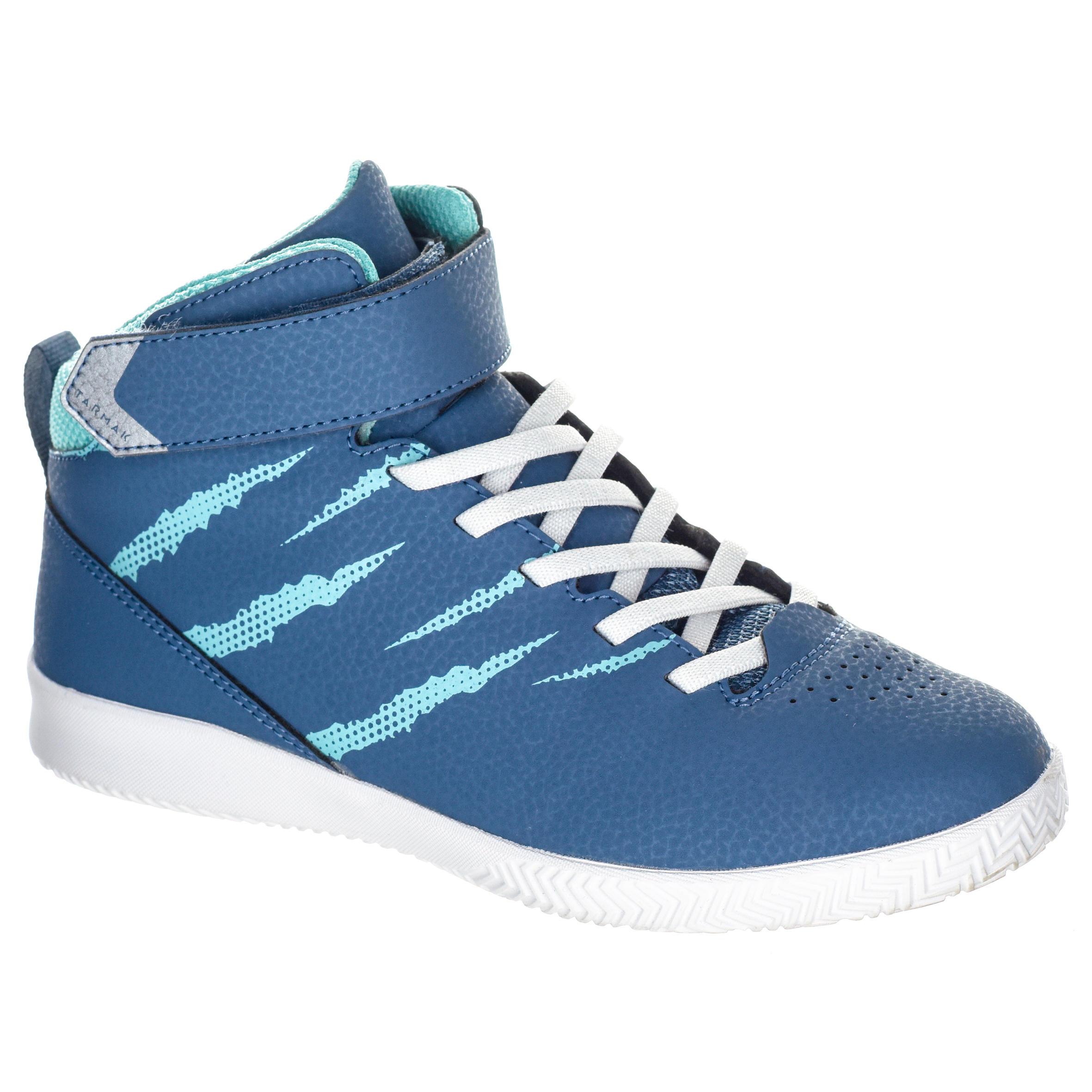Tarmak Basketbalschoenen SE100 jongens/meisjes beginners blauw/turquoise