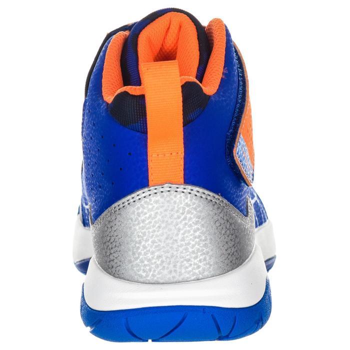 Basketbalschoenen voor gevorderde meisjes blauw/oranje Spider Lace