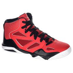 Basketbalschoenen Shield 300 jongens/meisjes halfgevorderden rood zwart