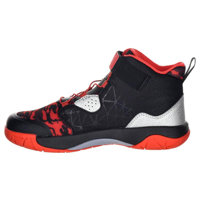 Spider Lace Boys'/Girls' Intermediate Basketball Shoes - Black/Red