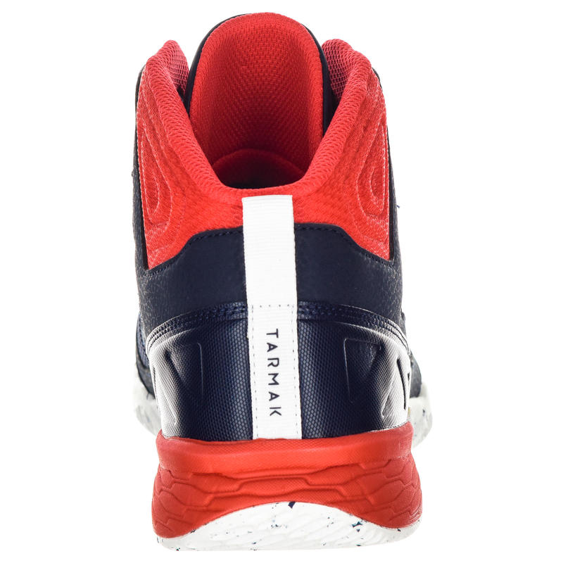 Adult Unisex Beginner Basketball Shoes - Blue/White/Red