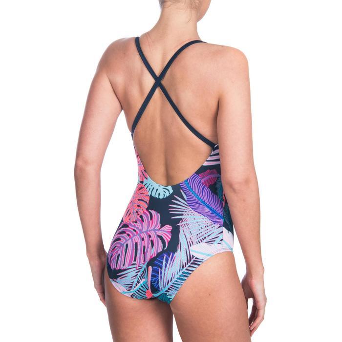 Bañador de natación una pieza para mujer Riana lif azul marino