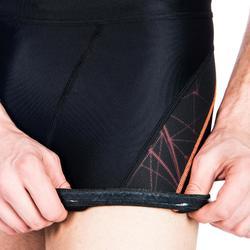 Zwemboxer voor heren 500 Stab zwart oranje