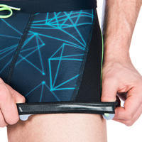 500 STAB MEN'S SWIMMING BOXER SHORTS ALLSTEL BLUE