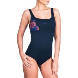 edefe91c8d1f Bañador de natación una pieza para mujer Heva + Negro