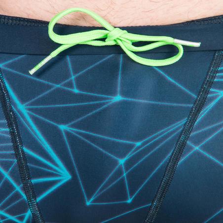 MEN'S STAB SWIM SHORTS-BLUE GREEN